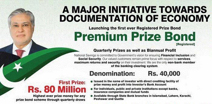 Prize Bond 40000 Premium Registration Online