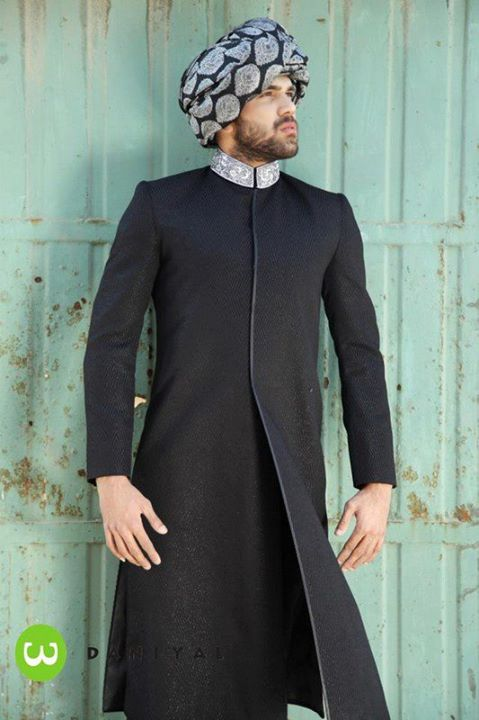 perpect style in black kurta boy 2013