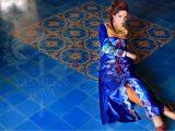 blue kurta eid design 2013