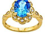 beautiful blue moti ring