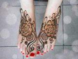 latest mehndi foot designs