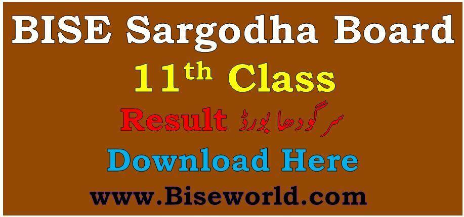 Sargodha Board 11th Class Result 2021