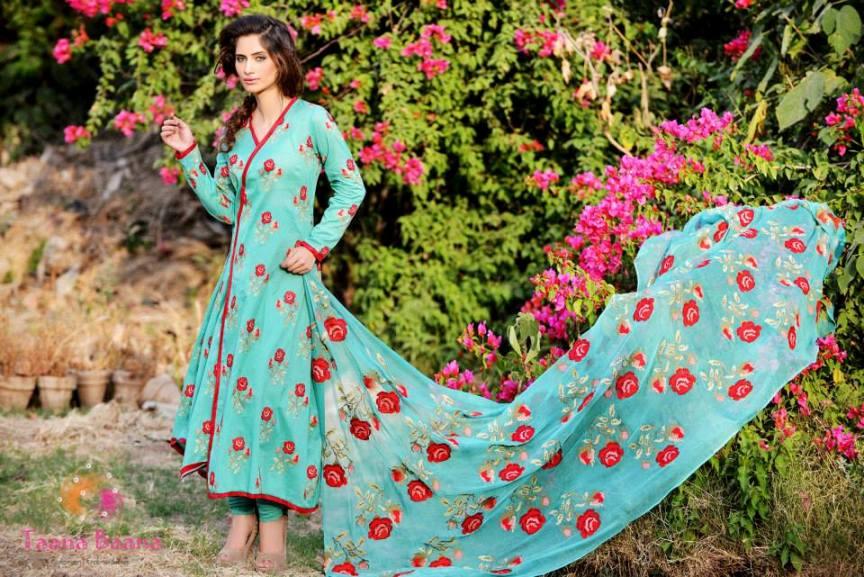 Beautiful Lawn Dresses 2013