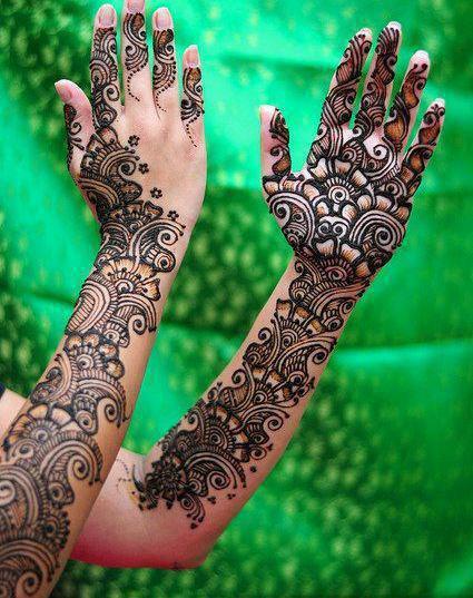 Arm Mehndi Designs : Bridal full arms mehndi designs