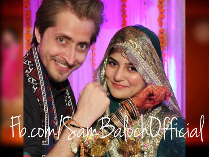 Sanam Baloch with Abdullah Farhat