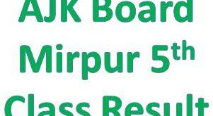 Azad Kashmir 5th Class Result 2019