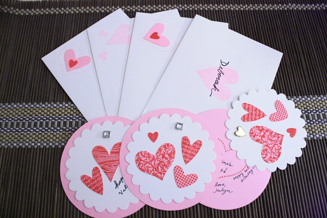 Heart Cards Valentine Day 2014