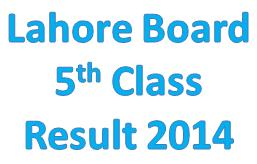 Pec Lahore Board 5th class result 2014