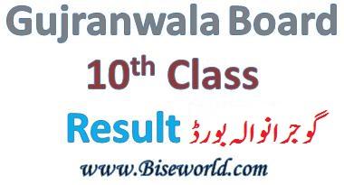BISE Gujranwala Board Matric Result 2020