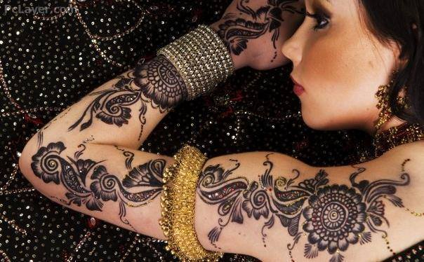 Attractive Shoulder Henna Designs 2015
