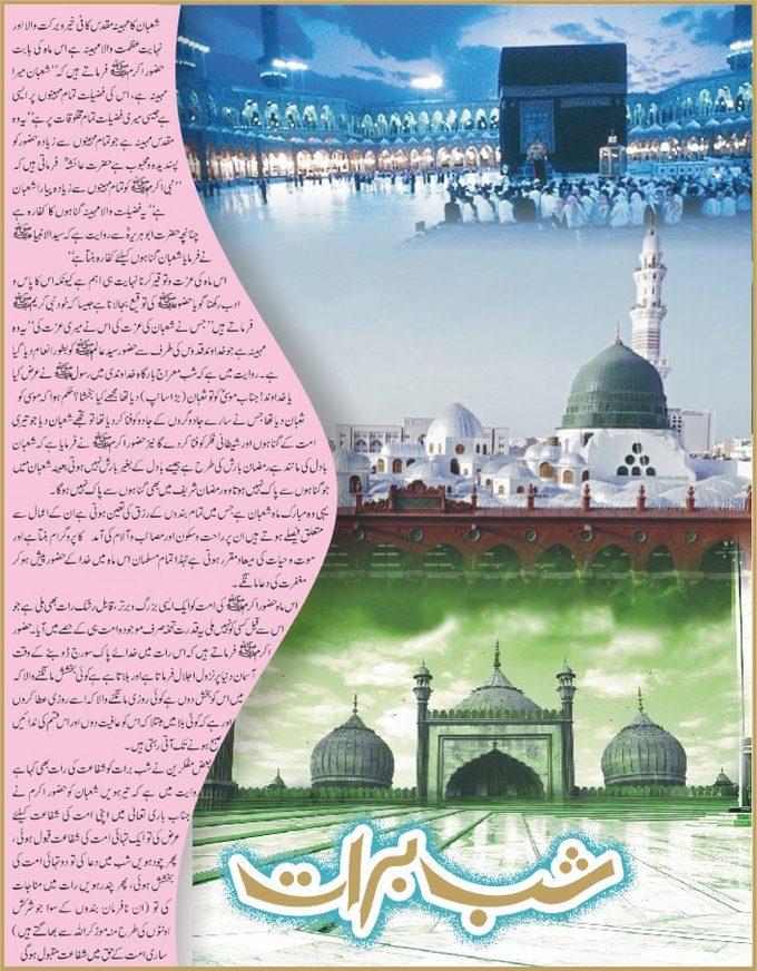 15th Shaban Mubarak History in Urdu