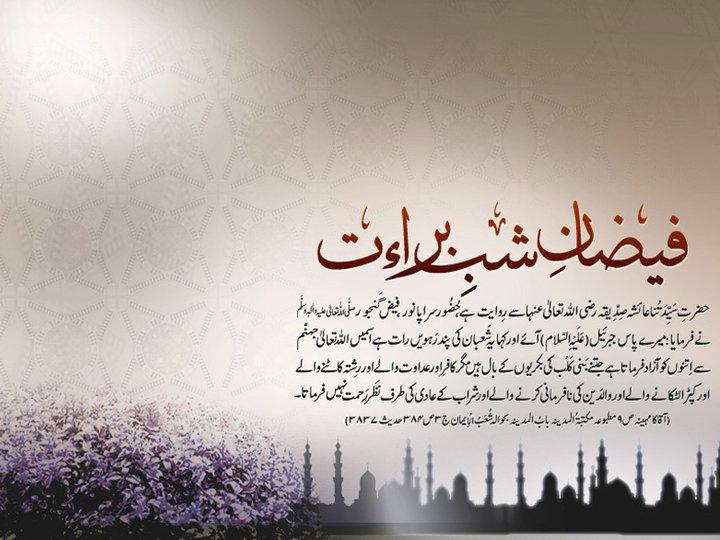 Shab-e-Barat Hadees in Urdu Wallpapers