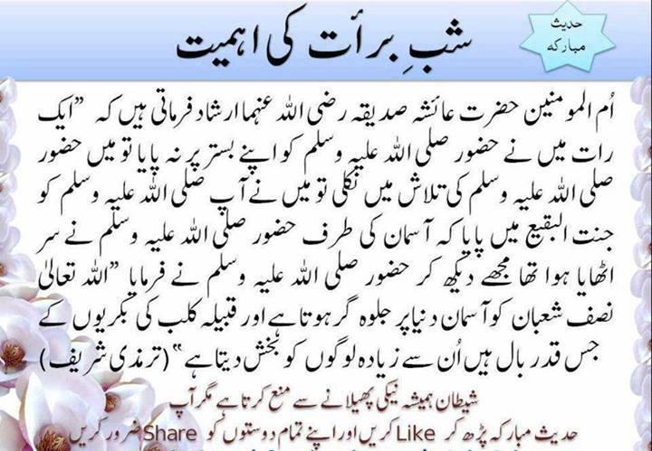 Shab e Barat Hadees Urdu Wallpapers
