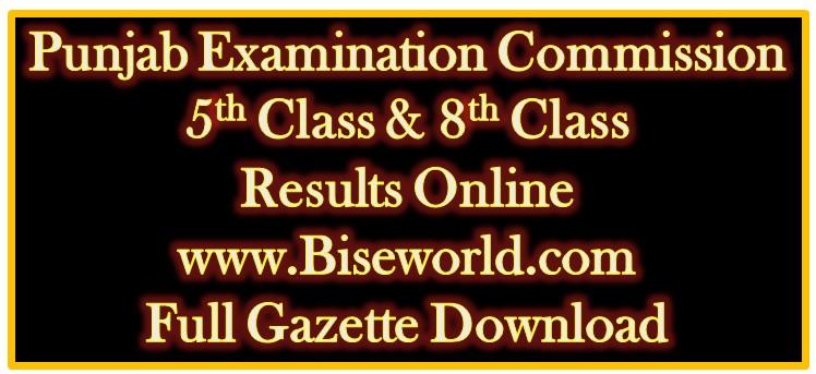 5th Class Result 2018 Full Gazette Download