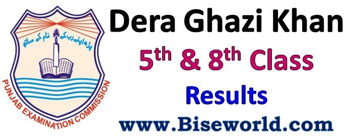 Dera Ghazi Khan 5th 8th Class Result 2017