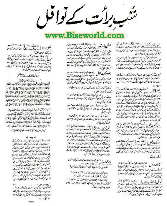 15 Shaban Nawafil Prayers