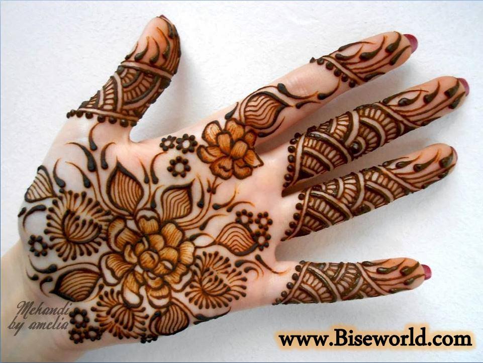 Fabulous Rose Flower Hands Henna Designs 2015