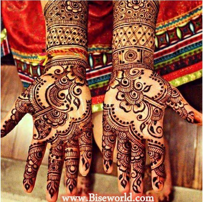 Stylish Walima Henna Designs 2015