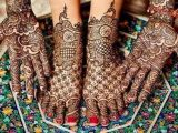 Women Bridal Indian Feet Henna Designs 2017