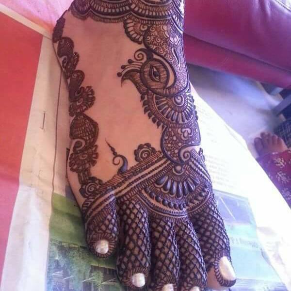Mehndi Feet Design 2018 : Indian foots mehndi designs