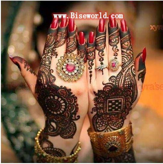 Latest Dullhan Hands Henna Designs 2015