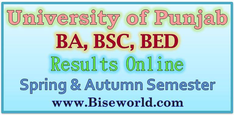 University of Punjab BA Result 2017