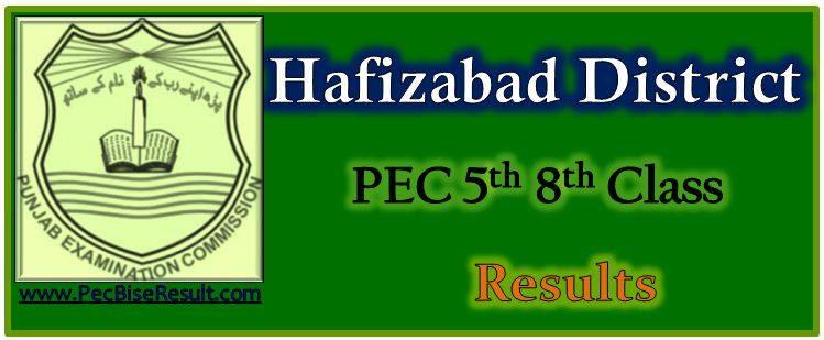 Five Eight Class Resul 2017 Hafizabad