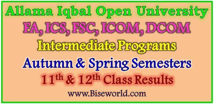 AIOU Intermediate Programs Result 2019