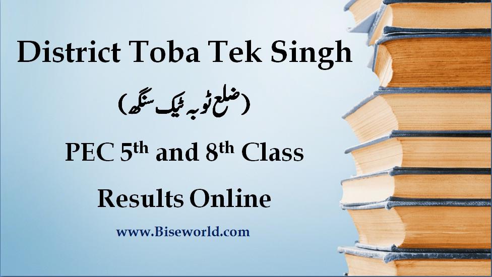 Toba Tek Singh PEC 5th & 8th Class Result 2017