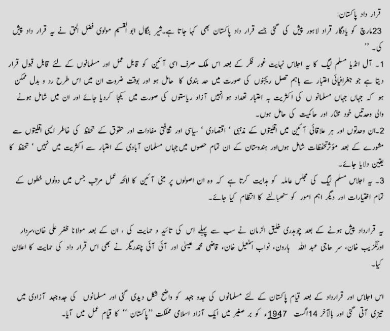 23 March 1940 Debate in Urdu