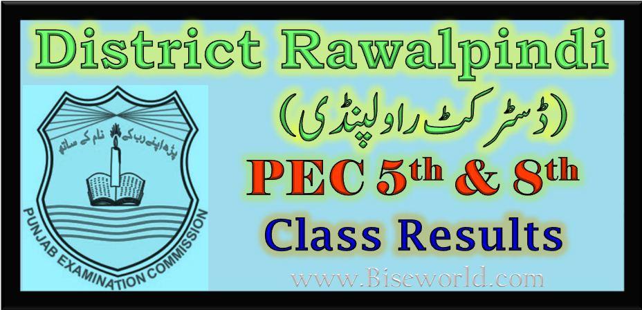 PEC 5th and 8th Class Result 2017 Rawalpindi