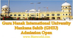 Baba Guru Nanak Dev G International University Admission Nankana Sahib