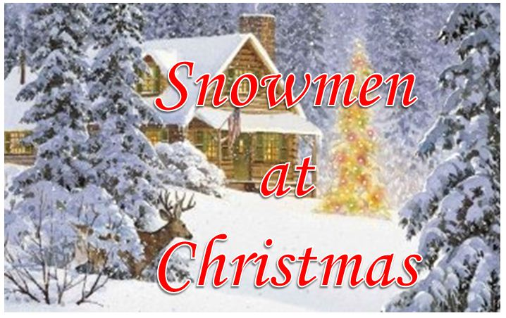 Snowmen Happy Christmas Images 2018