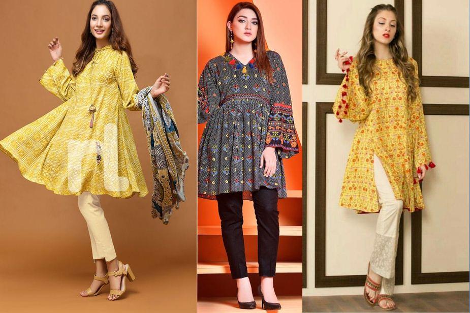 New Fashionable Eid Girl Kurti Dresses 2019