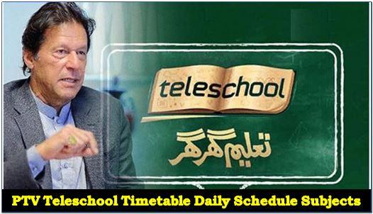 Live Tranmission PTV Teleschool Time Table