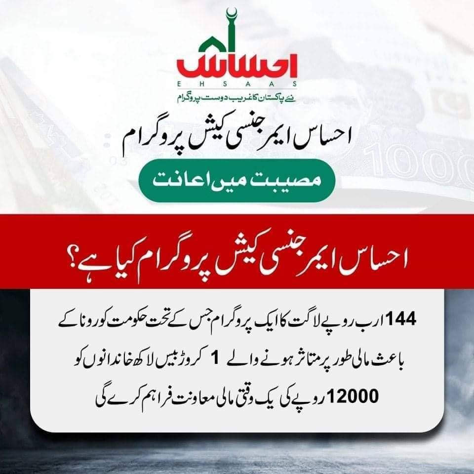 Ehsaas Emergency Cash Program What is this