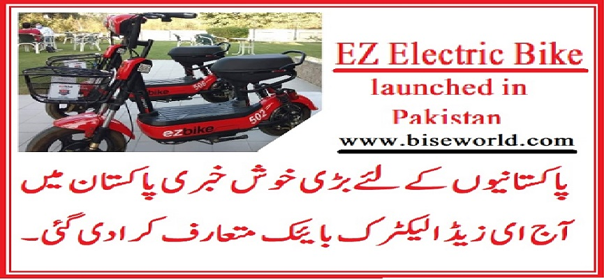 EZBike Electric Bike Riding Service in Pakistan