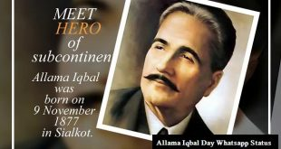 Allama Iqbal Day Whatsapp Status Images