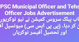 PPSC Municipal & Tehsil Officer Jobs 2020 Online Apply