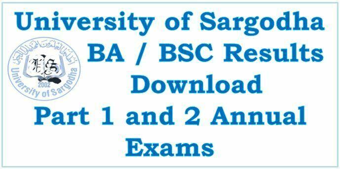 Sargodha University BA BSC Result 2021