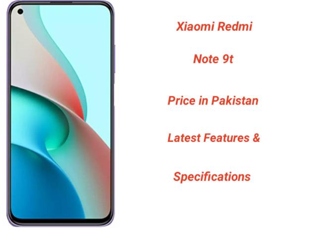 Xiaomi Redmi Note 9t Price in Pakistan