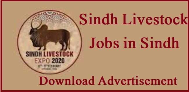 DG Livestock Sindh Jobs 2021 Advertisement