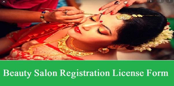 Beauty Salon Registration 2021 License