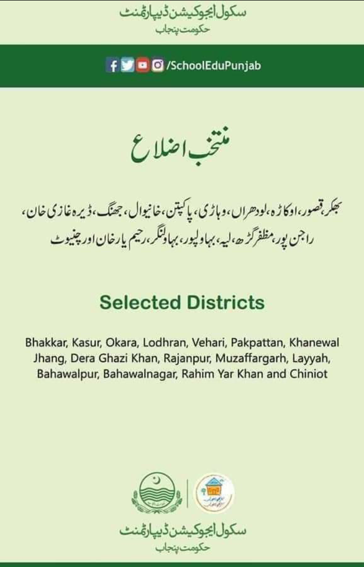 Punjab Matric Students Scholarships For Female Students