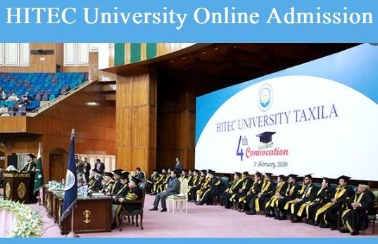 HITEC University Taxila Admission 2021 Online Apply