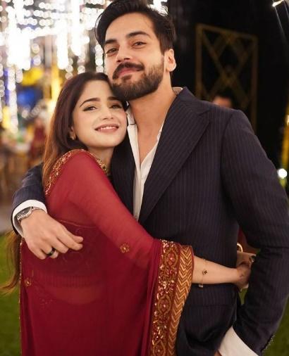 Aima Baig Shahbaz Shigri Engagement Pictures Instagram