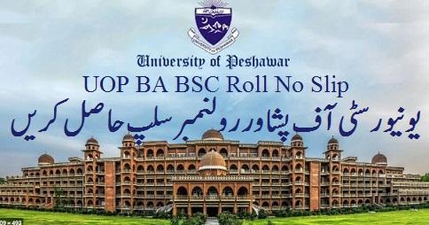 UOP BA BSC Roll No Slip University of Peshawar KPK