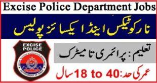 Excise Police Jobs 2021 Advertisement