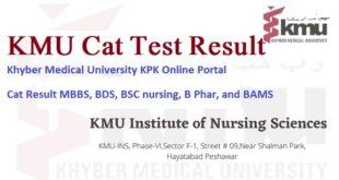 KMU Cat Result 2021 Khyber Medical University KPK