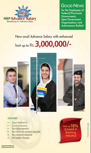 NBP Govt Employees Advance Salary Loan Online Portal ASAP